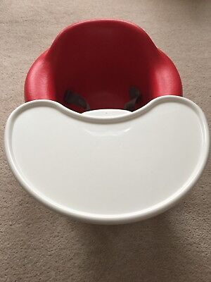 BUMBO SEAT IN RED WITH TRAY in perfect condition