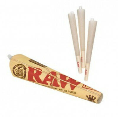 (81 Count) RAW Organic 1 1/4 Size Pre-Rolled Cones with Filter