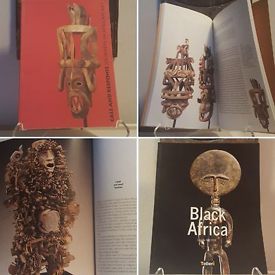 Fine African Art 2-book bundle Mask Figure Sculpture Statue Jewelry