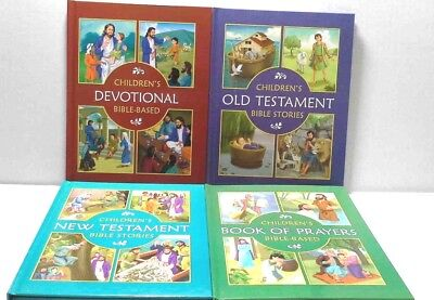 Bible Stories Prayers and Devotionals Set of 4 Books for Children Reading Time