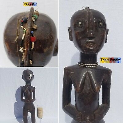 INCOMPARABLE Jiji Tanzania Figure Sculpture Statue Mask Fine African Art