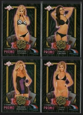 2015 Bench Warmer Sin City Industry Summit Promo Card Lot of 4 ~ Limited Edition