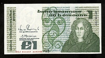 IRLAND 1 Pound 23.3.1988 Pick # 70d Central Bank of Ireland *aUNC
