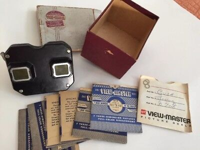 Vintage Viewmaster View Master 1940s with slides Havana Cuba Chili Ecuador works