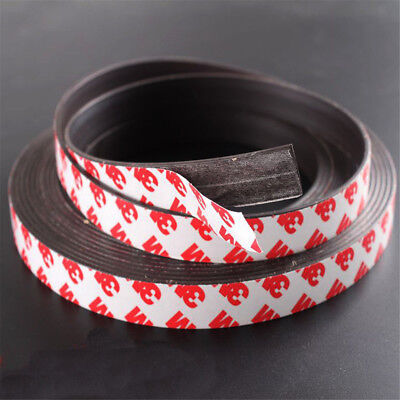 1M Long One Side Self Adhesive Magnetic Tape Magnet Strip 10*2mm/15*1mm/12*2mm