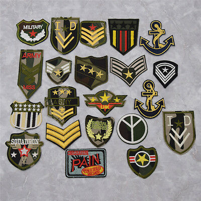 #2669 Lot 2Pcs Gold Military,US Army,Shoulder Epaulet Embroidery Applique Patch