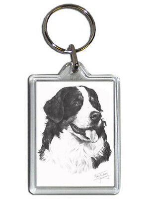 Mike Sibley Bernese Mountain Dog Quality Acrylic Keyring 50mm x35mm - Gift