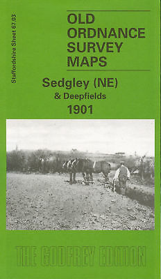 Old Ordnance Survey Map Sedgley Ne & Deepfields 1901