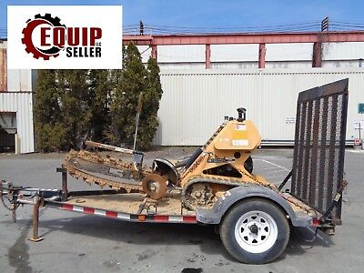 Boxer Walk Behind Track Trencher with Trailer