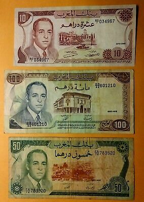 3 Banknotes 160 Dirhams from Morocco #02
