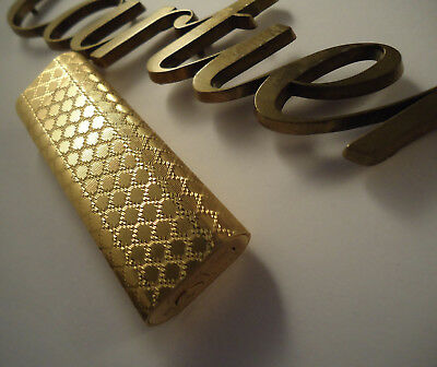 Cartier OVAL Lighter - Gold Plated  - Honeycomb - Cased - Feuerzeug - Briquet
