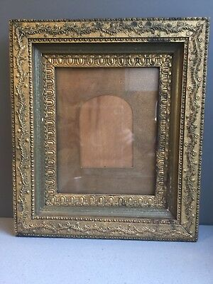 18th C Antique VICTORIAN Era Wooden Ornate Gold GESSO VINTAGE PHOTO FRAME