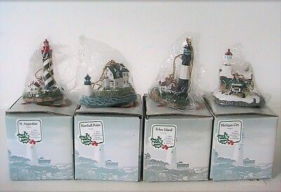 Harbour Lights - Tybee Marshall Augustine Michigan Lighthouse Ornament Set #715