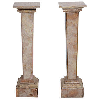 18th Century Pair of Neo-Classical, Louis XVI Style, Italian, Marble Pedestals