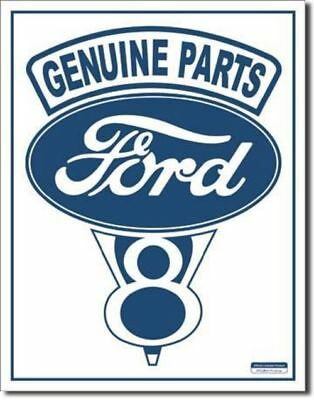 Genuine Parts Ford V-8 Tin Sign 787