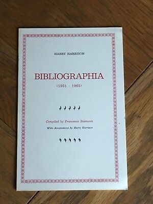 Bibliographia - Harry Harrison 1951 - 65 Bibliography SCARCE Francesco Biamonti
