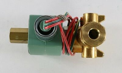 "New 8345G001 Asco Red Hat 1/4"" NPT 4-Way Solenoid Valve 24VDC"
