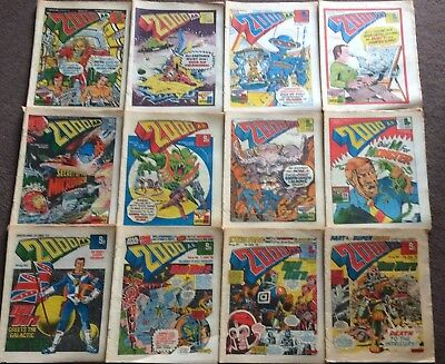 12 x 2000AD Comics PROGS 33 -49