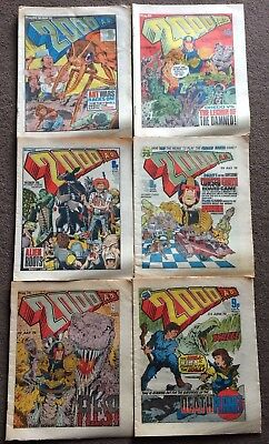 6 x 2000AD Comics PROGS 70-84