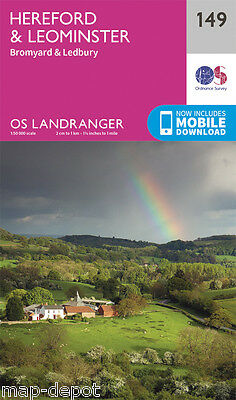HEREFORD & LEOMINSTER LANDRANGER MAP 149 - Ordnance Survey - OS - NEW 2016