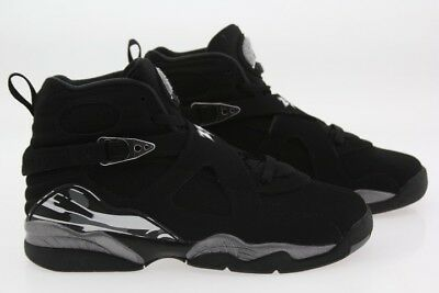 74110d2f99f72 305368-003 JORDAN BIG Kids Air Jordan 8 VIII Retro GS Black Graphite White  Chrom