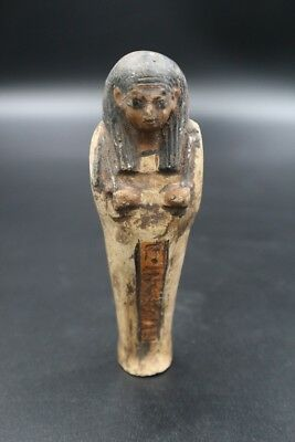 Fine Ancient Egyptian Faience Ushabti (Shabti) Statue Figure, 1550 BC