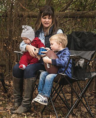 Heavy Duty Camping Chair XXL Folding Loveseat Two Person Outdoor Furniture  Sport