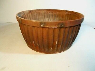 Antique Cast Iron Ornate Round Oak 16SB-T-2 Stove Fire Pot PD Beckwith Nice