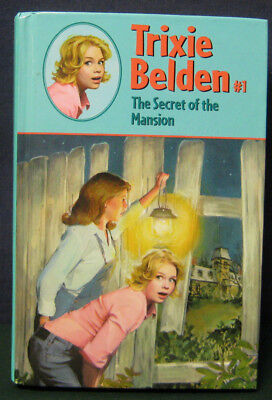 "Trixie Belden ""THE SECRET OF THE MANSION"" - #1 - hb/pc glossy (oval cover)"