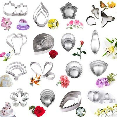 Stainless Steel Biscuit Baking Flower Leaf Cutter Fondant Cake Cookie Mold Tool