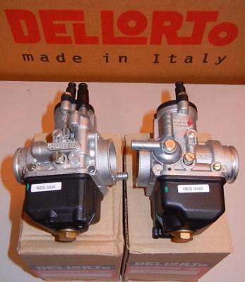 Dellorto PHBH BS/BD 28mm PAIR carburetors Moto Guzzi V50III & Monza   #3339/3340