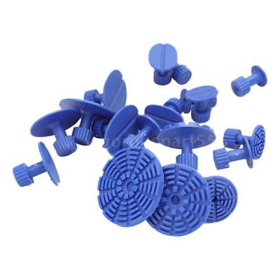 18pcs Blue PDR Tools Glue Pulling Tabs Puller Paintless Dent Repair Removal E6X2