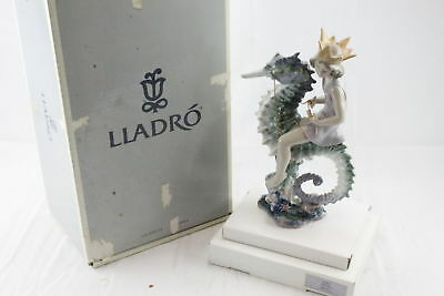 Vintage Lladro 01821 Prince of the Sea Porcelain Figurine w/ Box