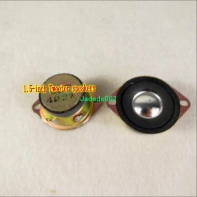 "2pcs 1.5""inch 42mm Tweeter 4ohm 4Ω 2W Speaker Loudspeaker Audio with Capacitor"