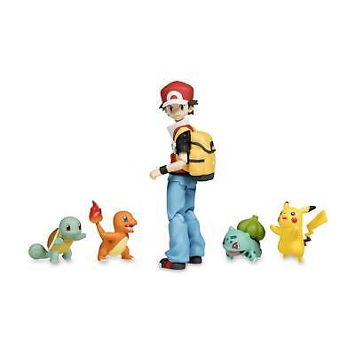 figma: Red Posable Figure with Pikachu, Bulbasaur, Charmander & Squirtle