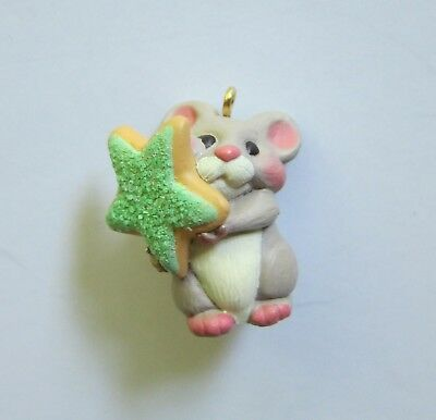 Sweet Contribution Mouse Miniature Ornament Hallmark Keepsake 2001 New in Box