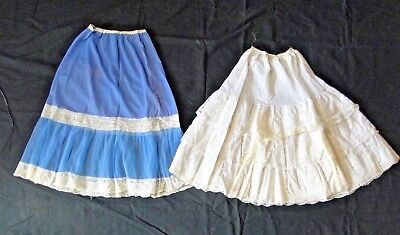 Set Of 2 Petticoats Women's Lace And Fabric Arnine Paris And Dl Farnel B1788