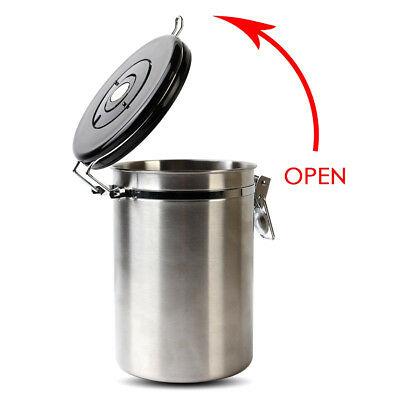 Gator Stainless Steel Coffee Bean Storage Container Canister with Co2 Valve 1.8L