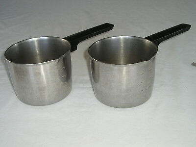 Vintage X2 Foley 2 Cup Measuring Cup Butter/Sauce Pan-Stainless Steel Nice Cond