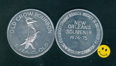 OLD CROW Bourbon Wiskey Advertising Doubloon Token 1974-75