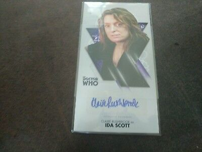 Doctor Who Widevision Autograph Claire Rushbrook Ida Scott