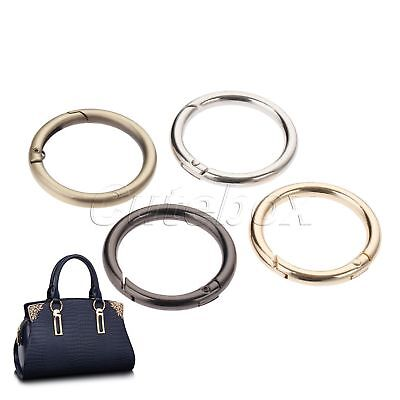 5pcs O Rings Openable Keyring Leather Bag Belt Strap Dog Chain Buckle 4 Colour