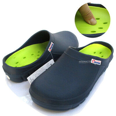 Men Chef Shoes Clogs Comfort Slippers Sandal Cushioned Kitchen Navy