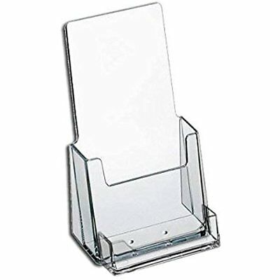 Brochure holder tri fold 4 wide liturature with business card 4 wide tri fold brochure and business card holder for booklets clear acrylic colourmoves