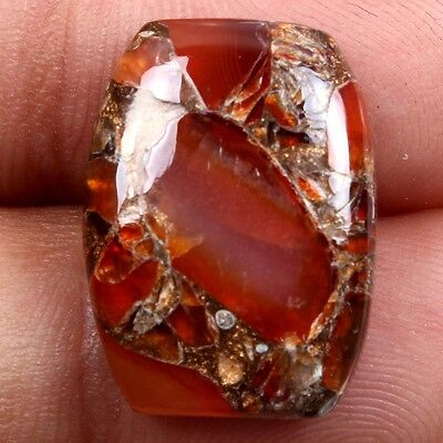 Royal 12 Cts CARNELIAN COPPER MOHAVE Cushion Cabochon 20x14 mm Gemstone s-26469