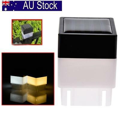 Outdoor Solar Powered Fence Post Pool LED Square Light Garden Waterproof Decor