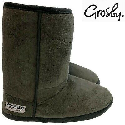 GROSBY Hoodies Short Boots Women's Ladies Slippers Shoes