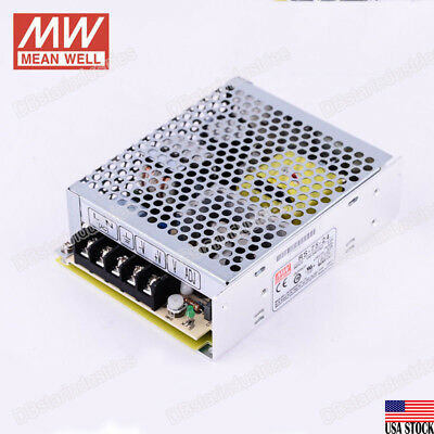 MEAN WELL RS-75-24 75W Switching Power Supply 3.2A 24V/DC UL Certified LED CCTV