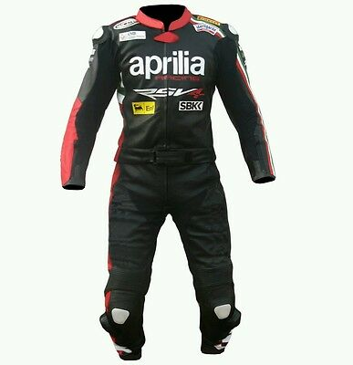 APRILIA  MotoGp MOTORBIKE/MOTORCYCLE LEATHER SUIT - CE APPROVED FULL PROTECTION