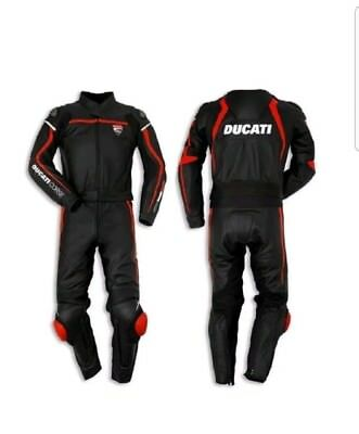 Ducati Black Motogp Motorcycle Racing Leather  Suit -Ce Approved Full Protection